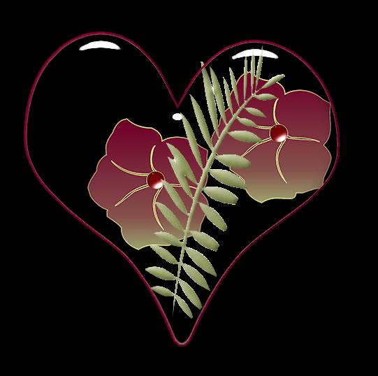 Клипарт. Красивые сердечки в png (21) (541x538, 144Kb)