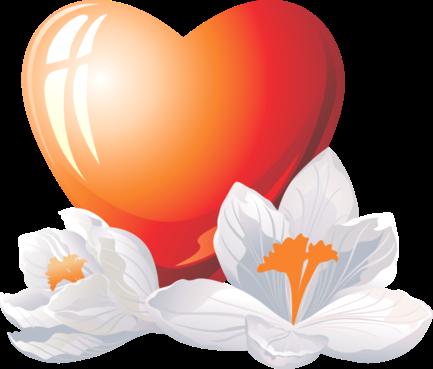 Клипарт. Красивые сердечки в png (26) (433x369, 128Kb)