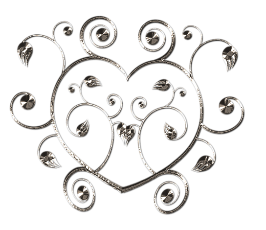 Клипарт. Красивые сердечки в png (38) (544x470, 191Kb)