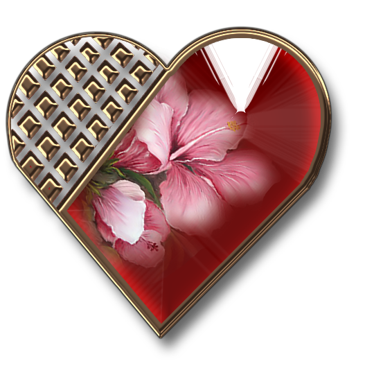 Клипарт. Красивые сердечки в png (40) (527x531, 312Kb)