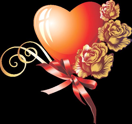 Клипарт. Красивые сердечки в png (42) (558x525, 226Kb)