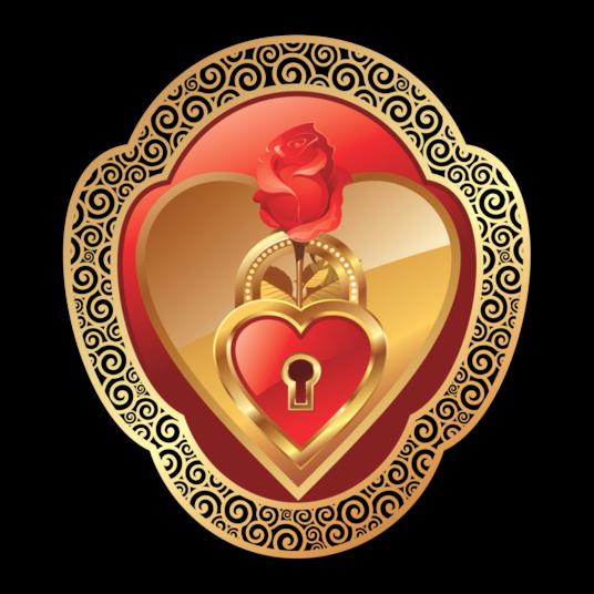 Клипарт. Красивые сердечки в png (48) (536x536, 310Kb)