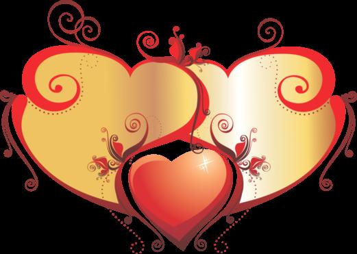 Клипарт. Красивые сердечки в png (56) (521x371, 127Kb)