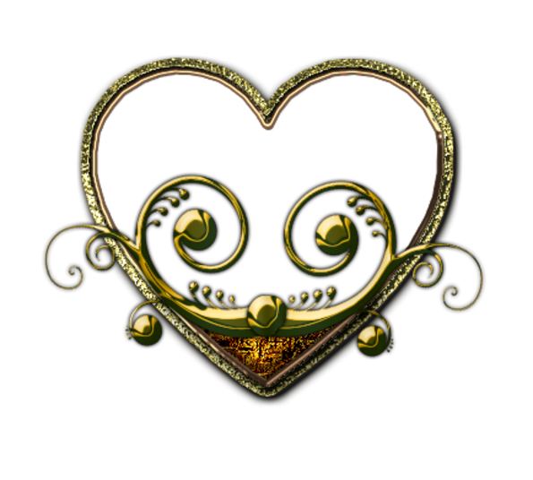 Клипарт. Красивые сердечки в png (61) (595x536, 237Kb)