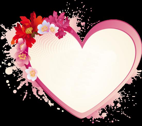 Клипарт. Красивые сердечки в png (63) (551x489, 227Kb)