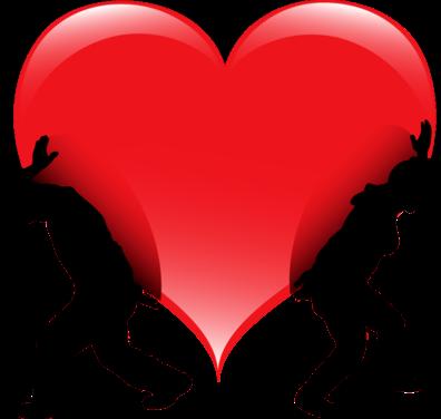 Клипарт. Красивые сердечки в png (71) (396x376, 57Kb)