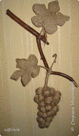 Золотой виноград из джута и мешковины (7) (278x480, 103Kb)