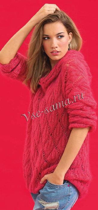 Rozovyi-pulover-s-kapiushonom-ris (327x700, 66Kb)