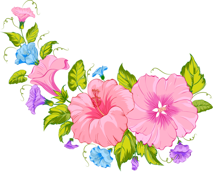 Рисунки из цветов клипарт