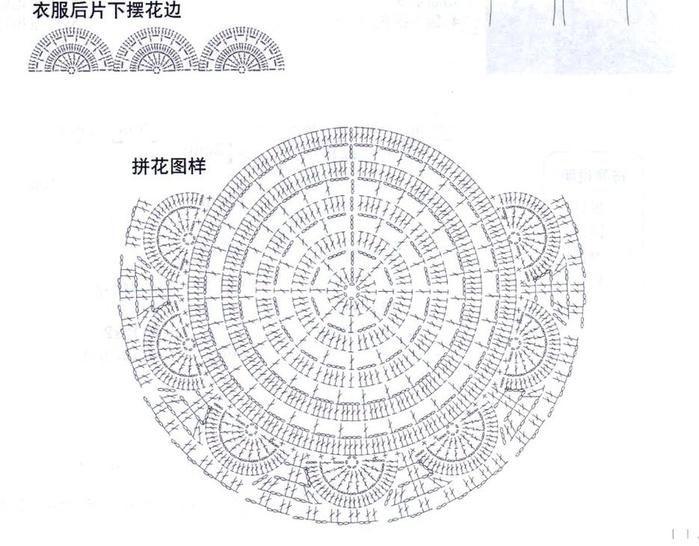 Вязание ажурных кругов