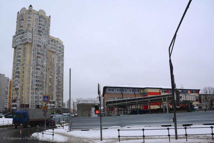 Стройплощадка станции метро