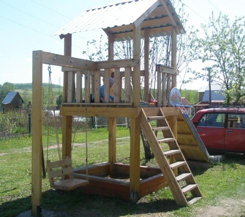 Детские площадка на даче своими руками фото