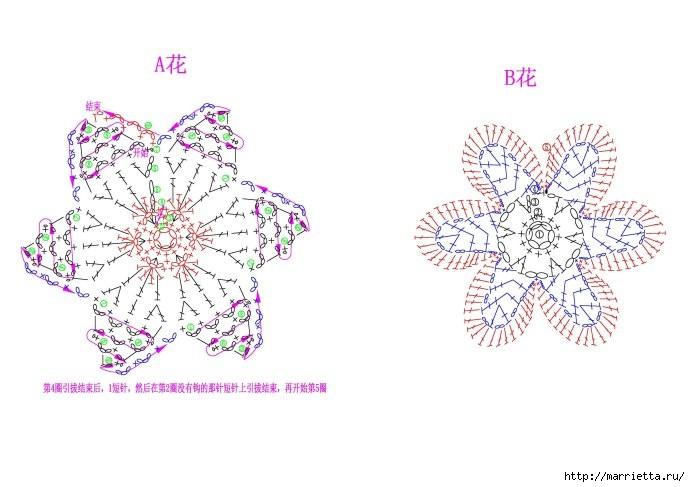 Цветочный топик крючком (8) (690x487, 143Kb)