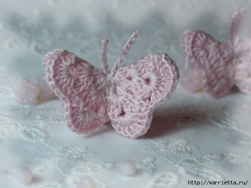 Бабочки крючком. Схемы (1) (500x375, 85Kb)