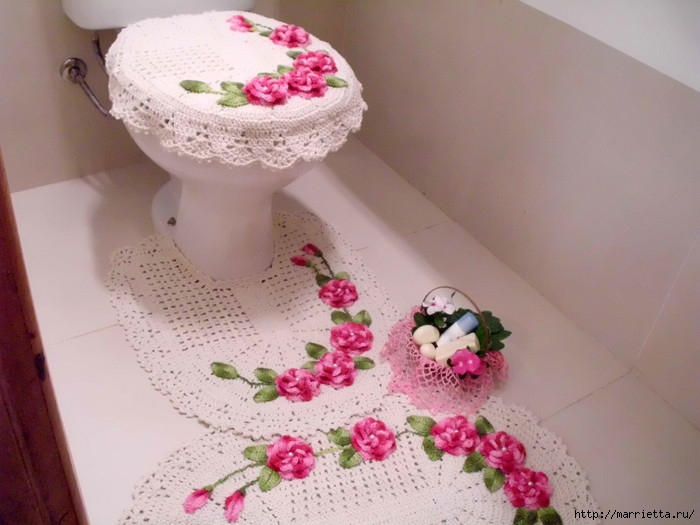 Связать крючком аксессуары для ванны