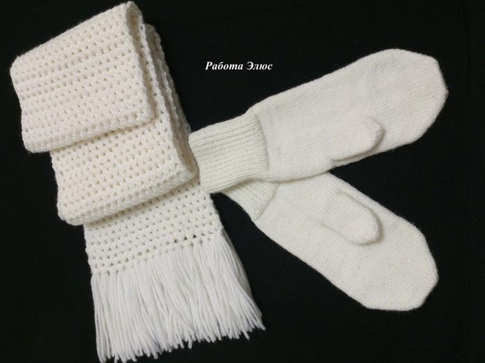 Вязание варежек и шарфов для детей 80