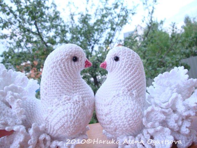 Схема вязание голубей