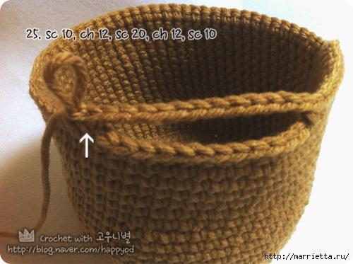 Как связать крючком сумочку - корзинку (17) (500x373, 135Kb)
