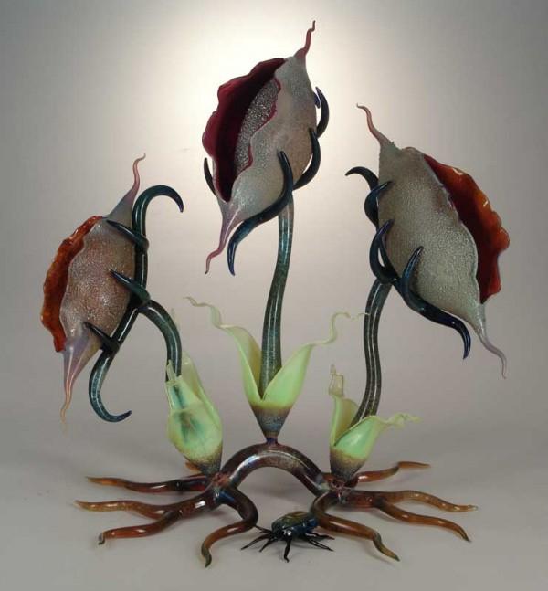 скульптуры из стекла Роберт Микельсон 16 (600x647, 202Kb)