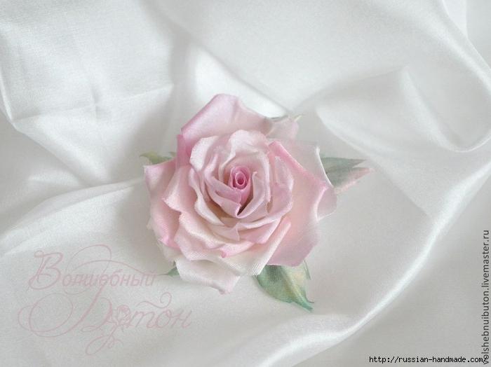 роза из шелка. мастер-класс (1) (700x524, 200Kb)