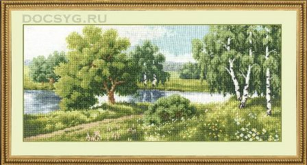 схема вышивки У реки (448x241, 130Kb)