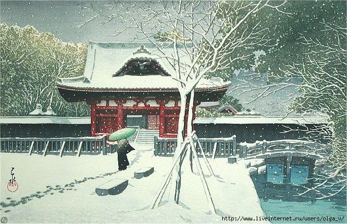 Snow at Shiba Park (681x440, 299Kb)