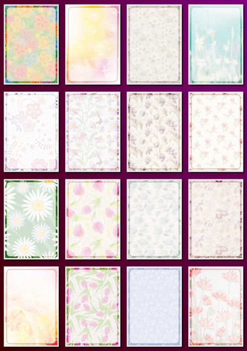 фоны цветочные а4 6-3 (492x700, 248Kb)