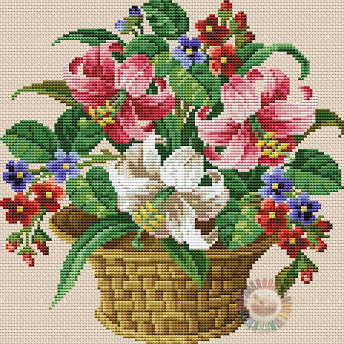 Lily Basket (700x700, 846Kb)