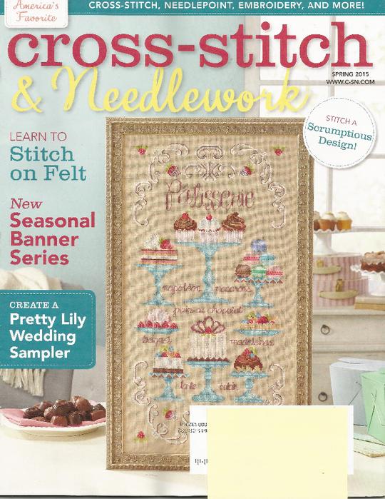 Cross Stitch & Needlework 2015.03 Spring (540x700, 544Kb)