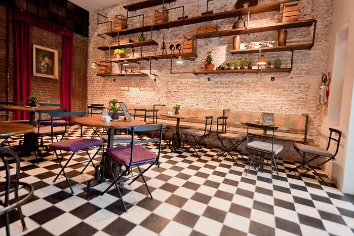 красивый интерьер кафе с промышленном стиле 2 (700x466, 500Kb)