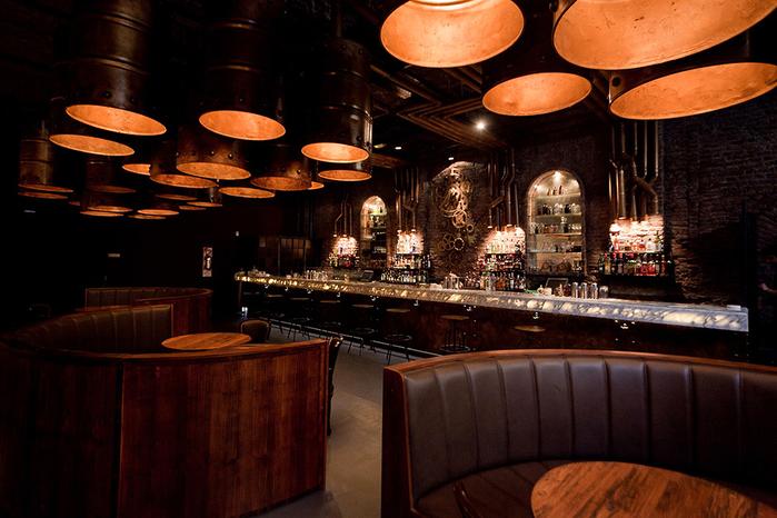 красивый интерьер кафе с промышленном стиле 4 (700x466, 403Kb)