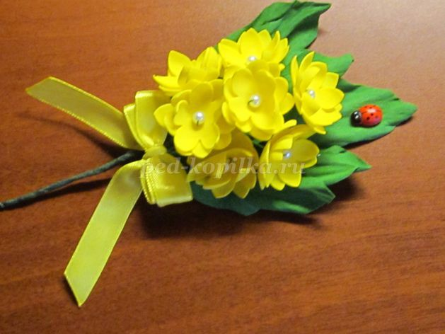 тюльпан из фома пошагово мастер класс