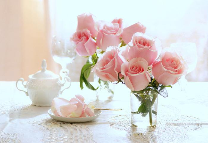 Нежные цветы доброе утро