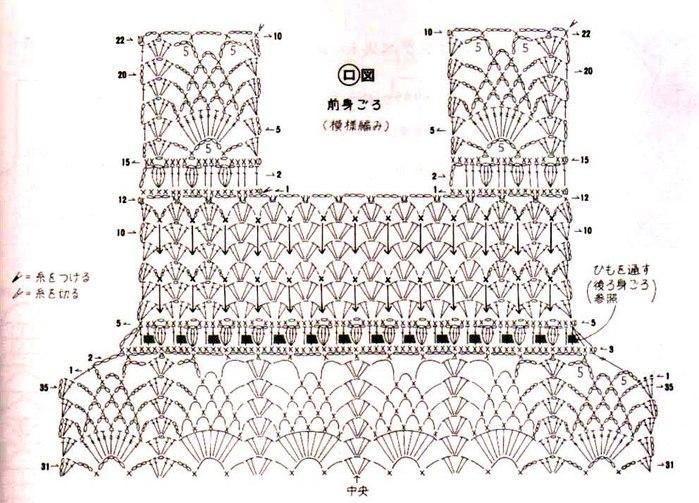 Красиво вяжем крючком платья схемы