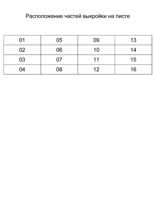 Расположение частей выкройки на листе (500x700, 27Kb)