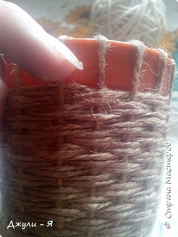 Плетение корзинки из шпагата. Мастер-класс (10) (360x480, 133Kb)