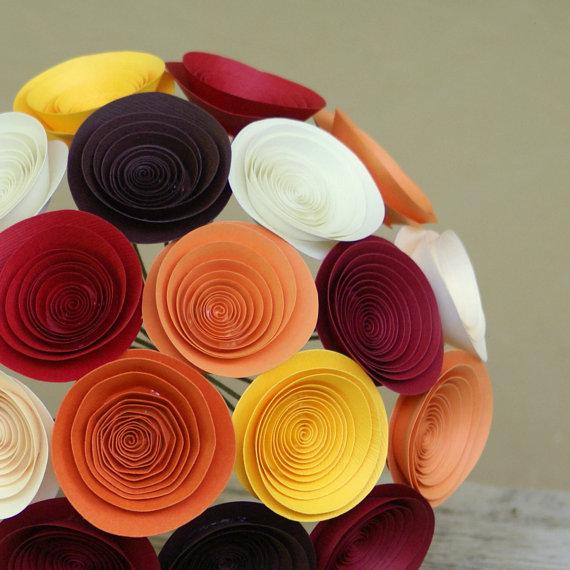 Сделать из бумаги букет из цветов
