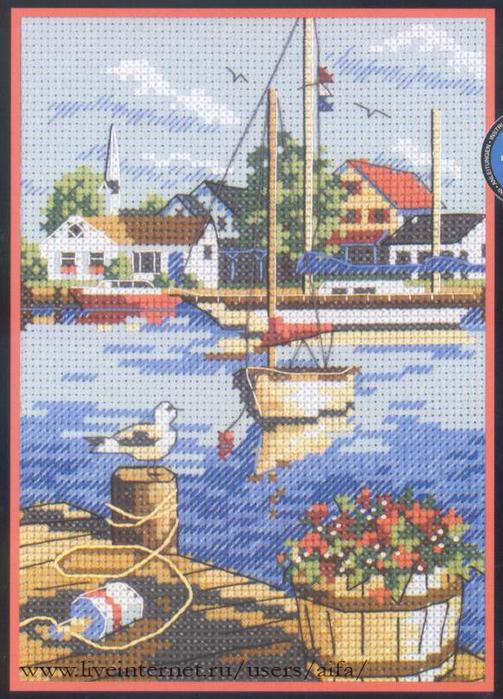 Схемы вышивки крестом миниатюры море