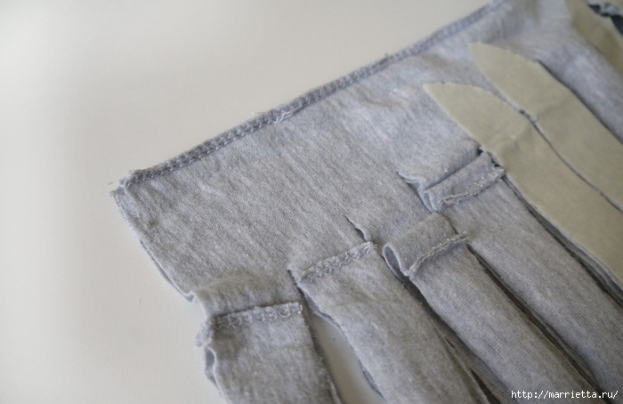 Вязание пряжей из футболок. Как нарезать пряжу (10) (700x454, 177Kb)