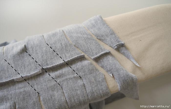 Вязание пряжей из футболок. Как нарезать пряжу (12) (700x447, 204Kb)