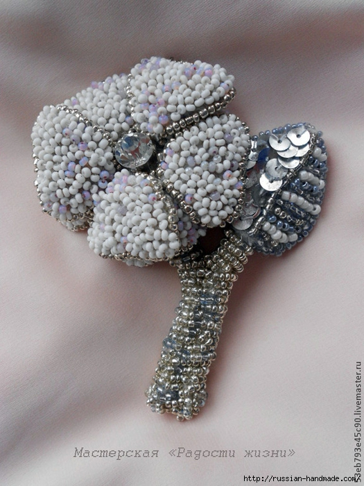 Вышивка бисером. Брошь цветок Амелия (1) (525x700, 285Kb)
