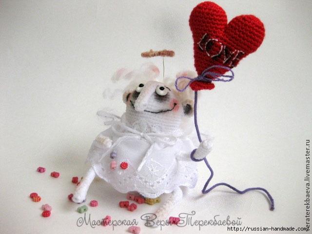 СердеШный ангел крючком. Описание вязания