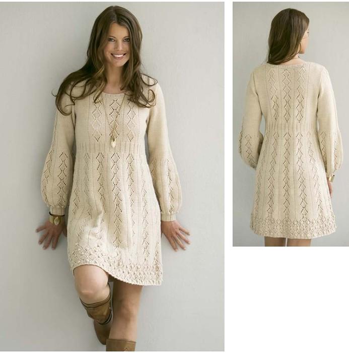 Вязание для женщин платье 62