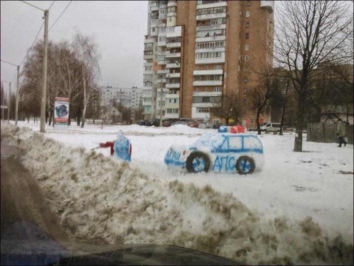 дпс из снега)