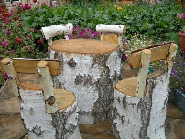 Фото поделки в саду на даче своими