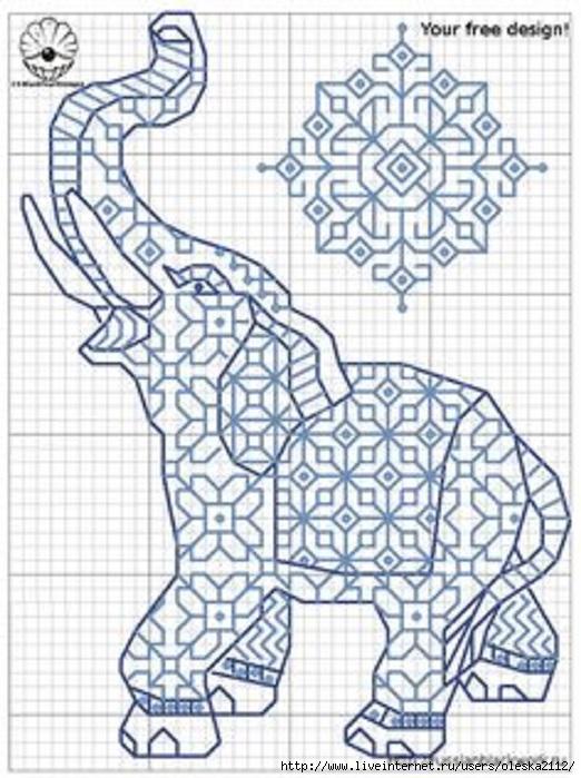 слон блэкворк (522x700, 224Kb)