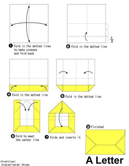Как сделать конверт из бумаги инструкция