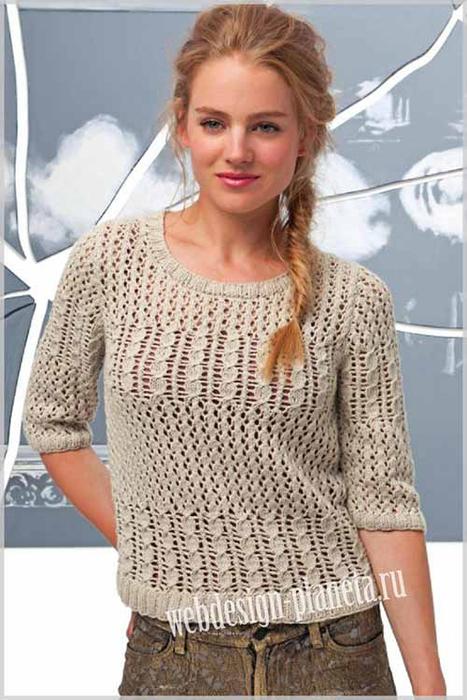 azhurnyj-pulover-spitsami-s-kosami-v-bezhevyh-tonah-foto (467x700, 289Kb)