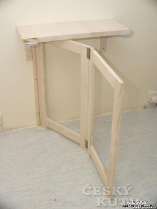Складной столик своими руками для маленькой кухни (5) (525x700, 125Kb)