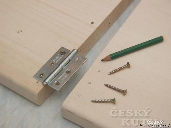 Складной столик своими руками для маленькой кухни (7) (700x525, 155Kb)